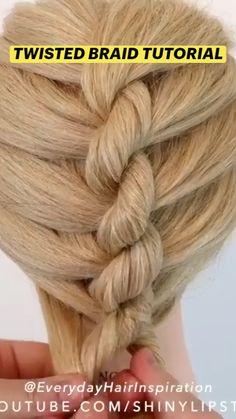 Twist Braid Tutorial, Braided Hairstyles, Cool Hairstyles, Thin Hair Styles For Women, Brown Hair Balayage, Front Hair Styles, Curly Hair Tips, Twist Braids, Hair Videos