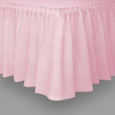 Falda de mesa rosa