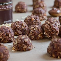 The perfect easy after-school treat: Nutella and peanut butter no bake cookies.