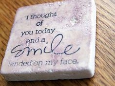 magnet natural stone tumbled tile   inspirational by serenitylane, $4.00