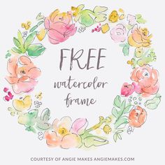 Free Watercolor Flower Wreath Background