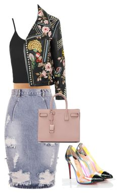 """L.I.W.L"" by princess-alexis18 ❤ liked on Polyvore featuring One Teaspoon, Topshop, Gucci, Christian Louboutin and Yves Saint Laurent"