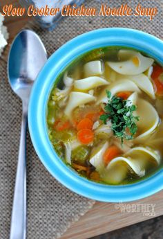 Easy recipe for Slow Cooker Chicken Noodle Soup (scheduled via http://www.tailwindapp.com?utm_source=pinterest&utm_medium=twpin&utm_content=post611337&utm_campaign=scheduler_attribution)