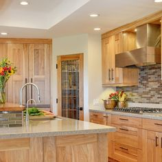 Contemporary Hickory Cabinets Contemporary Kitchen Design Ideas, Renovations & Photos
