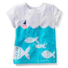 Playera para Niña Velero con Peces Carters (2-4 años) - Bebitos $219 #moda #niños #compraenlínea