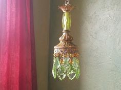 Chandelier Petite Pendant Crystal and Gilt Woodland by queendecor, $200.00