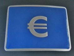 Europe Euro Currency Bank Money Sign Belt Buckle Boucle de Ceinture