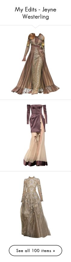 """""""My Edits - Jeyne Westerling"""" by mlleemilee ❤ liked on Polyvore featuring dresses, gowns, medieval, doll clothes, game of thrones, long dress, edits, baby doll dress, doll dress and long dresses"""