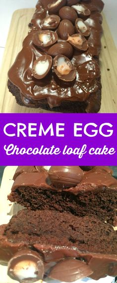 SO GOOD! Creme Egg Chocolate Loaf Cake - perfect for Easter family lunch