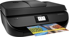 HP - OfficeJet 4650 Wireless All-In-One Printer - Black - Angle Zoom