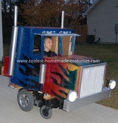 Gavins Optimus Prime Halloween Wheelchair Costume