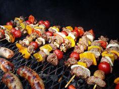 Super Easy Grilled Steak Shish Kabobs #BBQ #SummertimeFood