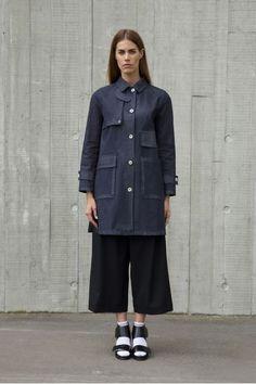Manteau et parka caban bleu marine femme