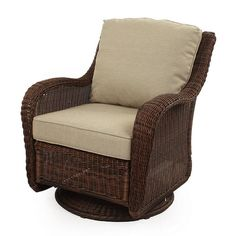Outdoor SONOMA Goods for Life™ Presidio Wicker Swivel Rocking Chair, Brown