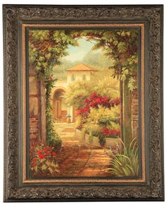Tuscany View Framed Art Print