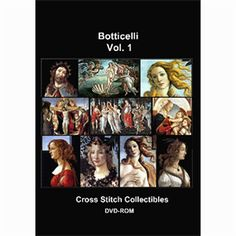 Botticelli Cross Stitch Collection - 10 Cross Stitch Pattern by Cross Stitch Collectibles