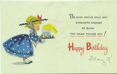Inside Hallmark card to my mother