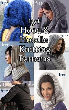 Cozy hoods keep you warm without messing with your hairstyle. Hooded scarves and cowls convert easily into substitutes for hats when needed and hooded pullovers and cardigans are stylish and practical.