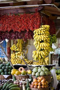 Market in Madeira, Portugal by renidens, via Flickr