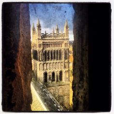 Halfway up Durham cathedral tower