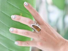 Indian Summer Striped Nail Art - http://www.nailtech6.com/indian-summer-striped-nail-art/
