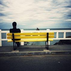 Bench Man Sea