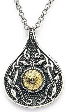 Celtic Warrior Antiqued Silver & Gold Teardrop Pendant - Celtic Warrior drop pendant necklace with additional influence from Viking artifacts uncovered at Wood Quay. Hallmarked at Dublin Castle. Viking Jewelry, Metal Jewelry, Oxidized Sterling Silver, Sterling Silver Chains, Celtic Designs, Unique Necklaces, Gold Beads, Luxury Jewelry, Gold Pendant