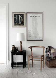 Kaart New York poster