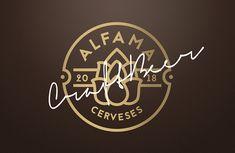 Diseño de logotipo para la compañía de Cerveza Artesana Cerveses Alfama.  #cervezaartesana #GraphicDesign #LogoDesign #diseñográfico #CraftBeer