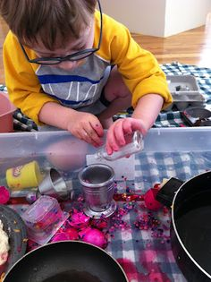 Pretend Cooking With Real Ingredients... great rainy day activity from playcreateexplore.com