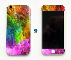 Colorful Holi iPhone Skin iPhone decal iPhone sticker for iPhone 4, iPhone 4s, iPhone 5, iPhone 5s and iPhone 6 Colors Indian Clouds Colour