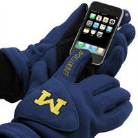 Cold weather Wolverines pride meets high-tech functionality with these Tec Touch fleece gloves! #UltimateTailgate #Fanatics
