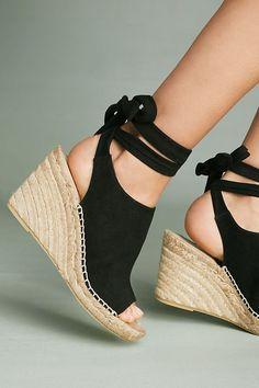 Slide View: 4: Etienne Aigner Vie Tie-Up Wedge Sandals