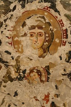 One of the beautiful murals revealed at Deir Al-Surian in Wadi Al-Natrun in Egypt. Early Christian, Christian Art, Ancient Art, Ancient Egypt, Art Through The Ages, Christian Symbols, Byzantine Art, Orthodox Icons, Character Art