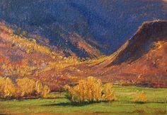 Autumn Afternoon l 5x7 I Dix Baines I Fine Artist Original Oil Paintings I Autumn Color l Autumn leaves at Gateway, Colorado I www.dixbaines.com