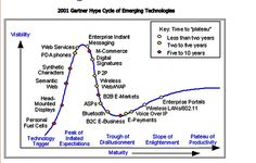 Gartner 2001 Hype Cycle for emerging technologies