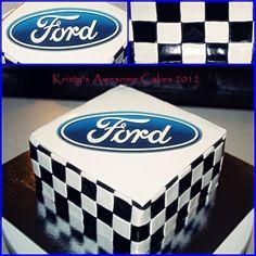 Maybe for my dad b/c he's a Ford man Boys 18th Birthday Cake, Birthday Menu, Male Birthday, 2nd Birthday, Birthday Ideas, Cake Icing, Cupcake Cakes, Cupcakes, Mustang Cake