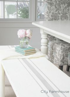 Striped Bench & Gallery Wall Preview - City Farmhouse
