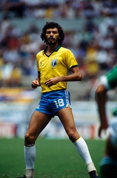 2e2b9be8adf Socrates from Brazil during a first round match of the 1986 FIFA World Cup  against Northern Ireland
