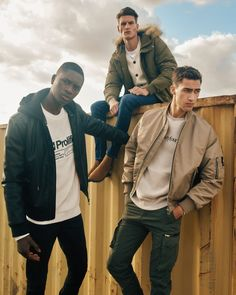 River Island Fall 2019 Men's Outerwear Borg Jacket, Bomber Jacket, Island Man, River Island, The Fashionisto, Men Photoshoot, Mens Style Guide, Shearling Jacket, Mens Fashion