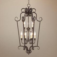 "Mont Chambord 17"" Wide Iron Foyer Pendant Light"