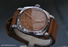 Awesome very early Panerai with Rolex made case and movement (ref 6154) issued to the egyptian military in 1954