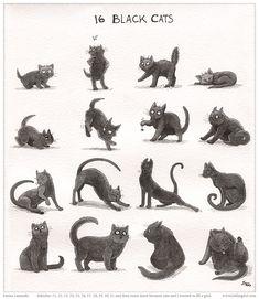 Inktober Cats by emla.deviantart.com on @deviantART