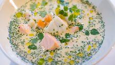 Fiskesuppe – NRK Mat – Oppskrifter og inspirasjon Pavlova, Hummus, Food Inspiration, Cantaloupe, Meal Planning, Soup, Fish, Cheese, Dinner