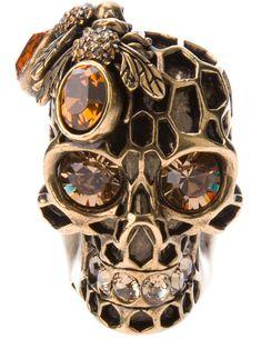 Skulls: Alexander Mcqueen #Skull Ring. #alexandermcqueenskull