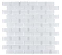 Mineral Tiles - Glass Subway Tile White 1x2 Mosaic, $14.92 (http://www.mineraltiles.com/glass-subway-tile-white-1x2-mosaic/)