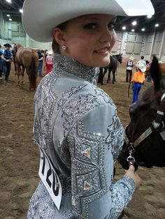 *Equine Thread Creations* stunning Grey Lace Showmanship Jacket ♥ Like us in Facebook!