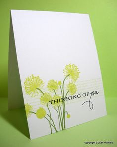 papertrey ink botanical silhouettes | And then this happened. Love how easily the flower stamp lines up with ...