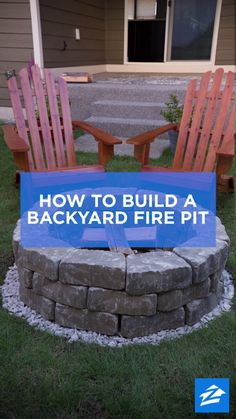 DIY Backyard Fire Pit: Build It in Just 7 Easy Steps Turn up the heat in your backyard with this do-it-yourself fire pit. The post DIY Backyard Fire Pit: Build It in Just 7 Easy Steps appeared first on Welcome! Diy Fire Pit, Fire Pit Backyard, Backyard Patio, Backyard Landscaping, Diy Patio, Outdoor Patio Ideas On A Budget Diy, Fire Pit Bench, How To Build A Fire Pit, Fire Pit Area