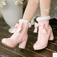 51.88$  Watch here - http://ai4ad.worlditems.win/all/product.php?id=32789672623 - Princess sweet lolita colourful shoes Candy rain Bow lace decoration Root High-heeled PU Tie Tip Japanese design C16CD2082